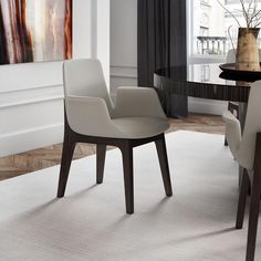 """Modloft Sanctuary Dining Chair  Chairs Products And 20"""" Stunning Leather Dining Room Chairs With Arms Review"""