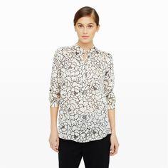 Women | Manjula Print Silk Shirt | Club Monaco