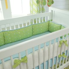 Lime Charades Crib Bumper #carouseldesigns