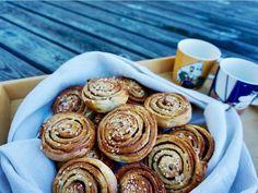 The Irresistible Finnish Cinnamon Rolls: Pulla Recipe – Her Finland Finnish Pulla Recipe, Finnish Recipes, Bun Recipe, Rolls Recipe, Finnish Cuisine, Pinwheels, Cinnamon Rolls, Mini Cupcakes, Baked Goods