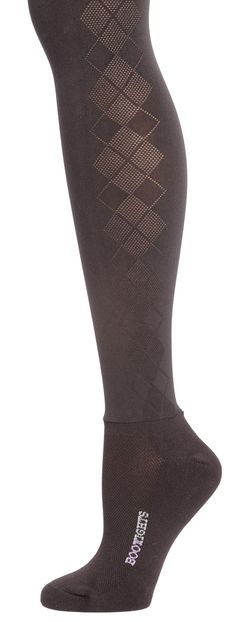 Tonal argyle design runs up each side of the leg with soft, non-binding waistband and control top for comfortable support