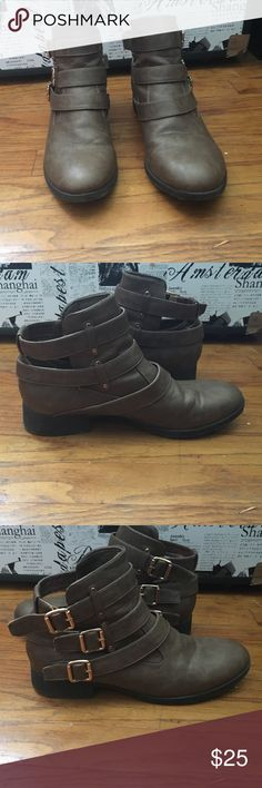 Spotted while shopping on Poshmark: Chocolate Ankle Boots! #poshmark #fashion #shopping #style #Shoes