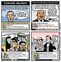 Color blind by Jen Sorensen. @DanRiehl wouldn't last five minutes as a black man in America.