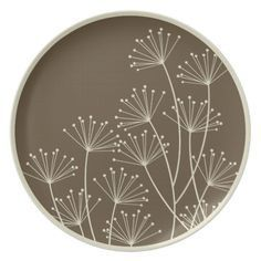 Shop Mod Dandelions, Melamine Tableware / Plate created by koncepts. Personalize it with photos & text or purchase as is! Pottery Plates, Slab Pottery, Ceramic Pottery, Pottery Art, Pottery Wheel, Sgraffito, Pottery Painting Designs, Pottery Designs, Paint Designs