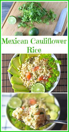 Easy quick cauliflower rice made with a Mexican Flare! Raw, vegan and gluten free!