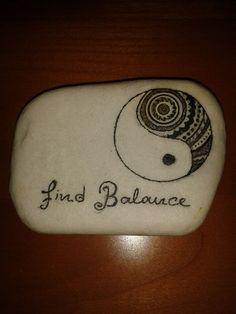 sayings yin yang find balance Pebble Painting, Pebble Art, Stone Painting, Stone Crafts, Rock Crafts, Inspirational Rocks, Rock Sculpture, Rock Painting Patterns, Rock And Pebbles