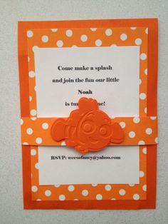 Finding Nemo Birthday Invitation Custom Digital File Finding nemo