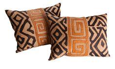 Kuba pillow.  The Loaded Trunk: A Closer Look at Kuba Cloth