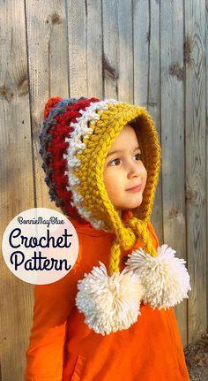 Baby Bonnet Pixie Hat Bonnet Pattern Crochet Pattern
