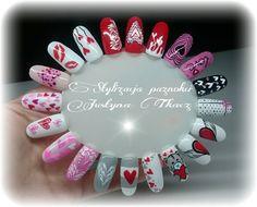 Walentynkowe inspiracje by Justyna Tkacz #nails #nail #pink #love #amazing #valentines #valentinesday #special #lovely #indigo #gelpolish