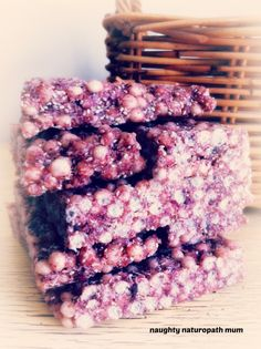 Anti LCM bars from Naughty naturopath mum Lunch Box Recipes, Raw Food Recipes, Sweet Recipes, Snack Recipes, Cooking Recipes, Lunchbox Ideas, Clean Recipes, Cooking Tips, Healthy Recipes