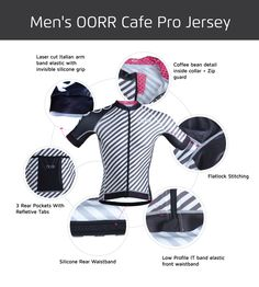 2016 Men's OORR Cafe Pro Cycling Jersey – OORR Apparel