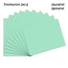 Fotokarton mint A4 - 10 Bogen - 240g