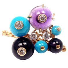 "CARTIER Diamond Amethyst ""Délices de Goa"" Rose Gold Necklace"