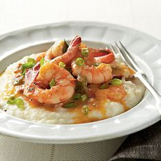 Low Country Shrimp and Grits...makes a person's mouth water.  Looks amazing!