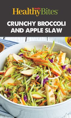 Try this easy summer side dish! Apple Slaw, Summer Side Dishes, Nutritional Value, Green Beans, Broccoli, Salad, Vegetables, Healthy, Easy
