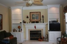 Bookcase Built In Bookshelves Around Fireplace | fireplace built-in bookshelves | For the Home