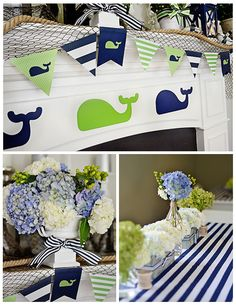 Project Nursery - A Preppy Whale 1st Birthday Party Decor