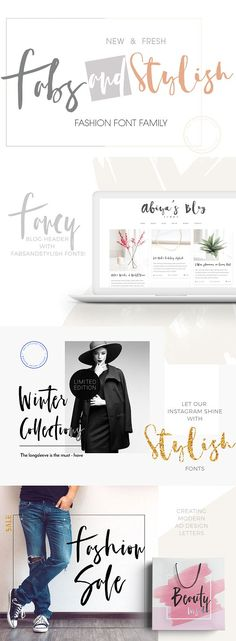 I love this font. So stylish, fresh, fun and fab!  FabsandStylish New Font Family by mycandythemes on @creativemarket