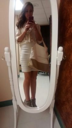 Brand new skirt from H + M, and new purse from charming charlies