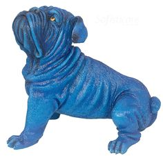 cód. 107.012 CACHORRO CABEÇA LEVANT BLUE  43x37x30cm