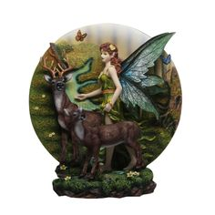Fairy with Deer Statue - $64.99 - This gorgeous piece will bring a touch of woodland magic into your home!