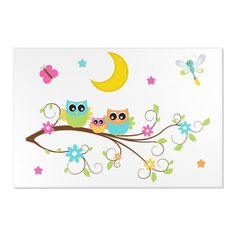 Nursery Canvas, Owl Nursery, Nursery Rugs, Wall Canvas, Nursery Decor, Room Decor, Wall Art, Woodland Animal Nursery, Woodland Animals