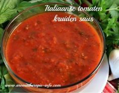 Italiaanse tomaten kruidensaus, gezond en makkelijk te maken