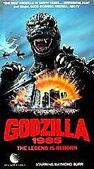 Godzilla 1985 The Legend Is Reborn (VHS) Raymond Burr Very Nice Used Condition