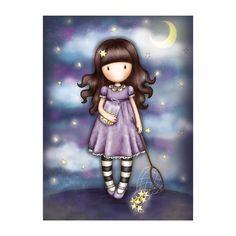 Gorjuss Catch a Falling Star Greetings Card