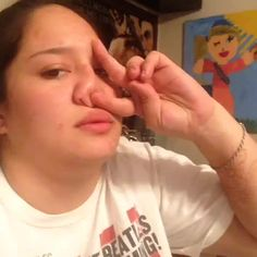"""evolutional: """" suprememoroi: """" ohmygod """" the funniest part about this vine is that u can literally see her get the idea to tape her nose like that omg """""""