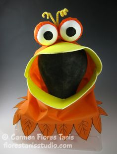 Oly*Fun Googly Bird Halloween Costume Hood by Carmen Flores Tanis