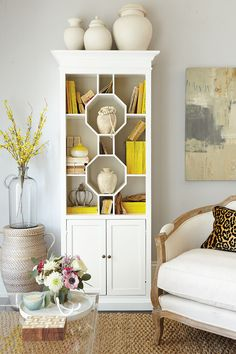 How to Decorate the new Octavia Bookcase from Ballard Designs