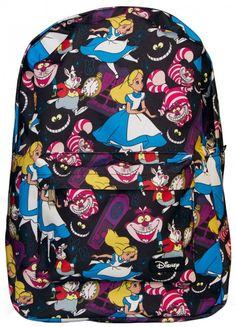 Alice In Wonderland Backpack - Disney - Brands Disney Handbags, Disney Purse, Pretty Backpacks, Alice In Wonderland Characters, Hot Topic Clothes, Disney Brands, Cute Bags, Backpack Purse, Disney Outfits