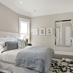 Love the wall color: Hampshire Taupe