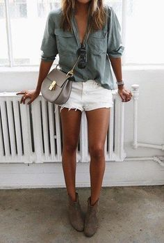 White shorts are a must for the summer! Pair them with a simple button up or your favorite tee for a casual look.