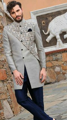 Fashion 2018 ready to wear men new Ideas African Wear Styles For Men, African Shirts For Men, African Dresses Men, African Clothing For Men, Sherwani For Men Wedding, Wedding Dresses Men Indian, Wedding Dress Men, Wedding Suits For Groom, Mens Sherwani