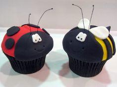 ladybug & Bumblebee cupcakes- so cute