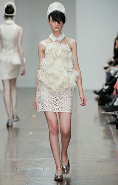 Simone Rocha AW 2012 sweet shoes and awesome textiles