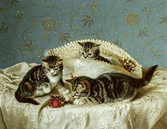 Horatio Henry Couldery (Inglaterra). Kittens Up To Mischief