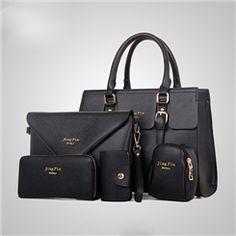 Vogue Solid Color Crossbody Tote Bag(5 Bags)