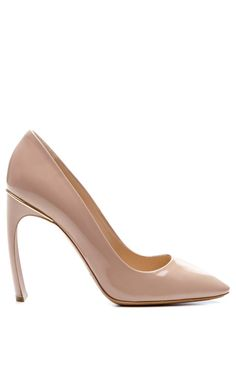 Shop Patent Leather Curved Heel Pumps by Nicholas Kirkwood Now Available on Moda Operandi