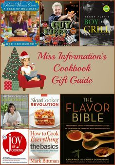 Miss Information's Holiday Gift Guide - Cook Books! My faves plus the one's on my list this Christmas