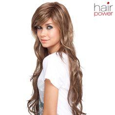 Naomi - Langhaar-Perücke aus der hairpower Collection von ellen wille. Mit diesem Modell haben Sie das gewisse Extra gefunden.  Das Model trägt auf dem Bild die Perücke in der Farbe nougat/mix.  Monturgröße: durchschnittlich (54-56 cm) Material: Synthetikhaar Haarlänge: lang