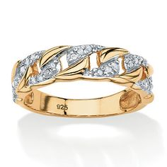 Classic curb-link is taken to the next level. Accented with 1/10 carat T.W. of glorious diamonds for a dramatic effect.Price - $49-tNdPHPUx