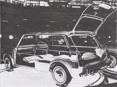 Austin 1100 Countryman cutaway