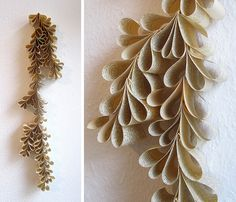 paper plant by renna deluxe Old Book Pages, Old Books, Paper Plants, Diy Wall Art, Diy Paper, Art Education, Paper Cutting, Flower Power, Garland