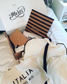 Branding and packaging sooooooo on point. Plus I LOVE everything I ordered. @sezane #frenchgirlsdoitbest