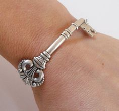 Skeleton key bracelet.
