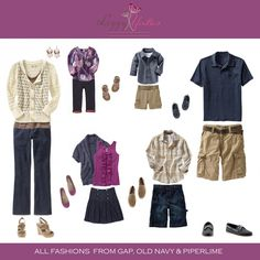 Here are some tips for choosing clothes for your photo session.  Everyone should look like they are going to the same event in the same season.  Wearing clothes that you are comfortable in and feel good in is key (this gos for kids, moms, dads and teens alike!).  Don't choose clothes or accessories that will steal the focus from you!
